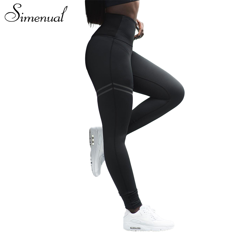 [해외]Simenual 2018 여성을스포츠웨어 레깅스 스트라이프 슬림 섹시한 피트 니스 legging 여성 athleisure 보디 빌딩 바지/Simenual 2018 New arrival sportswear leggings for women striped slim