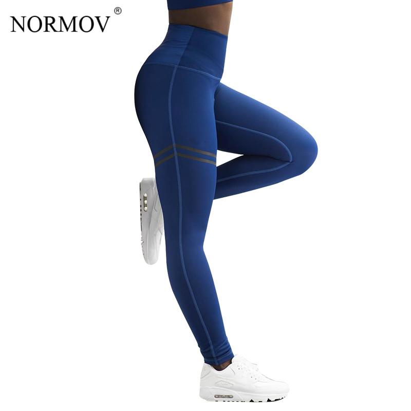 [해외]NORMOV Activewear 하이 웨이스트 휘트니스 레깅스 여성 바지 패션 패치 워크 운동 레깅 스트레치 슬림 스포츠웨어 Jeggings/NORMOV Activewear High Waist Fitness Leggings Women Pants Fashion P