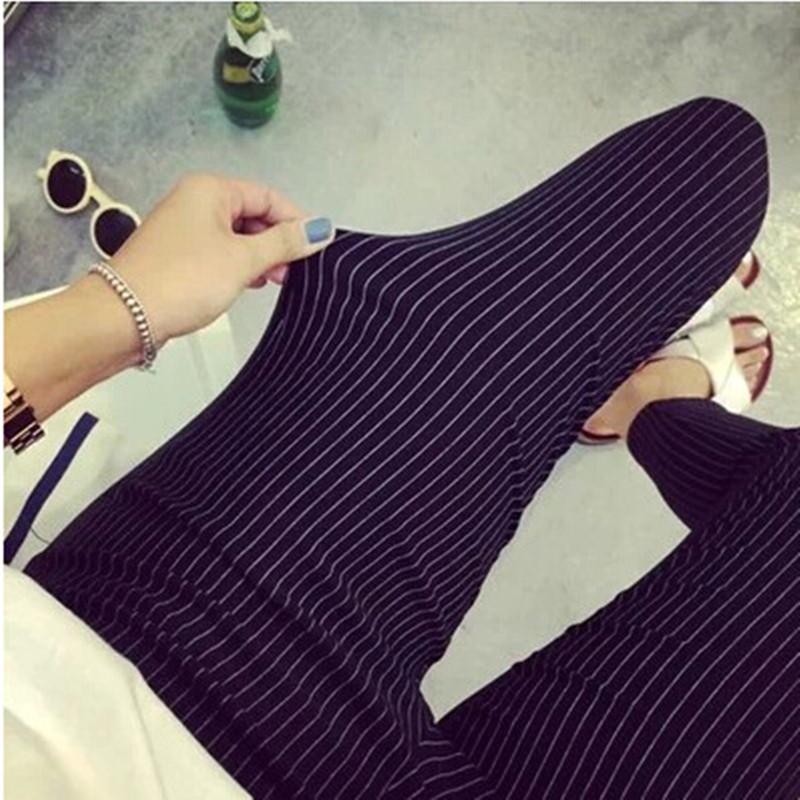 [해외]여름 플러스 사이즈 캐쥬얼 여성 펜슬 신축성 슬림 하렘 카프리 블랙 화이트 스트라이프 레깅스 바지 플러스 사이즈 여성 바지/Summer Plus Size Casual Women Pencil Pants Elastic Slim Harem Capris Black Wh