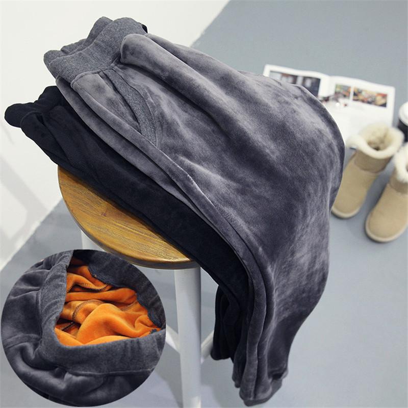 [해외]새로운 여성 & 겨울 바지 헐렁한 두꺼운 따뜻한 캐주얼 여성 바지 열 여성 땀 흡수 바지 플러스 크기 S-2XL/New  Women&s Winter Pants Baggy Thicken Warm Casual Women Pants  Thermal Female