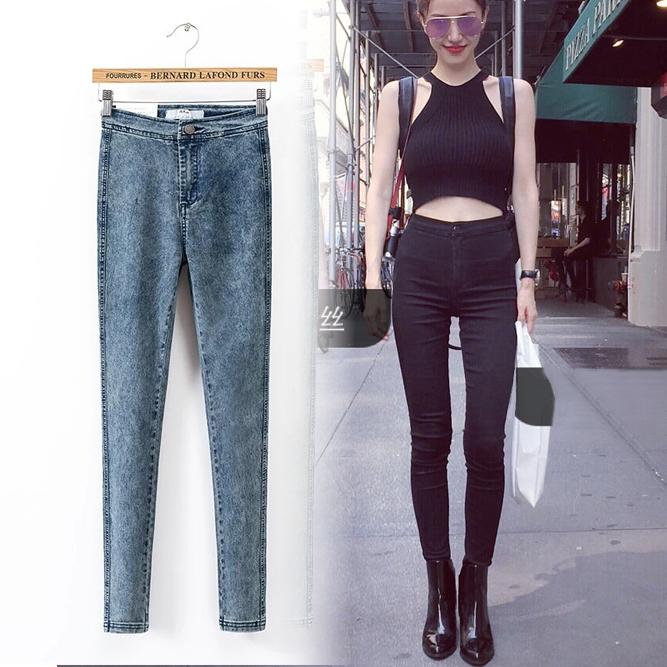[해외]2016 새로운 패션 청바지 여성 연필 바지 높은 허리 청바지 섹시한 슬림 탄성 스키니 바지 바지 맞는 여자 청바지 4 색/2016 New Fashion Jeans Women Pencil Pants High Waist Jeans Sexy Slim Elastic