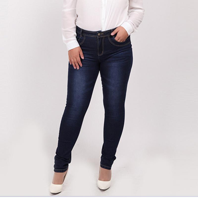[해외]여성 청바지 2016 패션 하이 웨스트 캐주얼 데님 스키니 팬츠 Femme 펜슬 청바지 여성 XL-4XL 7XL 5XL 6XL 플러스 빅 사이즈/WOMEN JEANS 2016 Fashion High Waist Casual Denim skinny Pant Femm