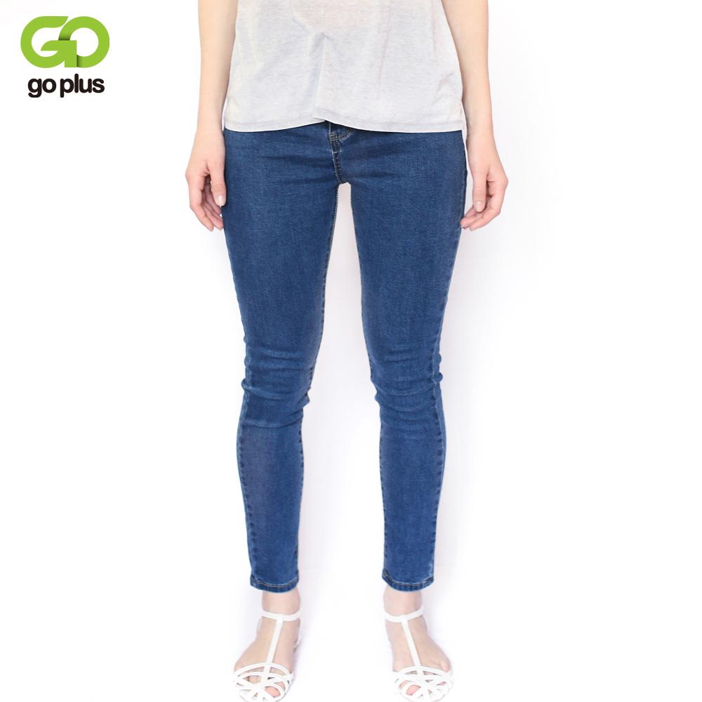 [해외]2017 빈티지 엄마 맞는 높은 허리 청바지 탄성 Femme 여성 씻어 블루 데님 스키 니 청바지 클래식 연필 바지 C3553/2017 Vintage Mom Fit High Waist Jeans Elastic Femme Women Washed Blue Denim