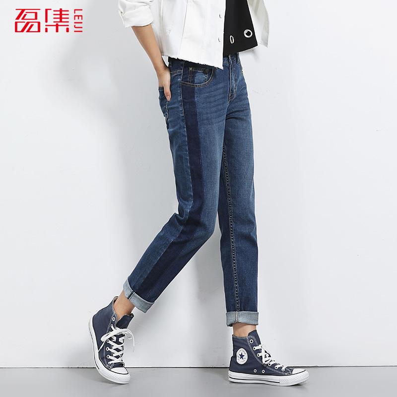 [해외]여성을남자 친구 청바지 중간 허리 청바지 느슨한 스타일 낮은 탄성 puls 크기 청바지 여자 인과 전신 청바지/New arrival boyfriend jeans for women Mid waist jeans loose style low elastic puls s