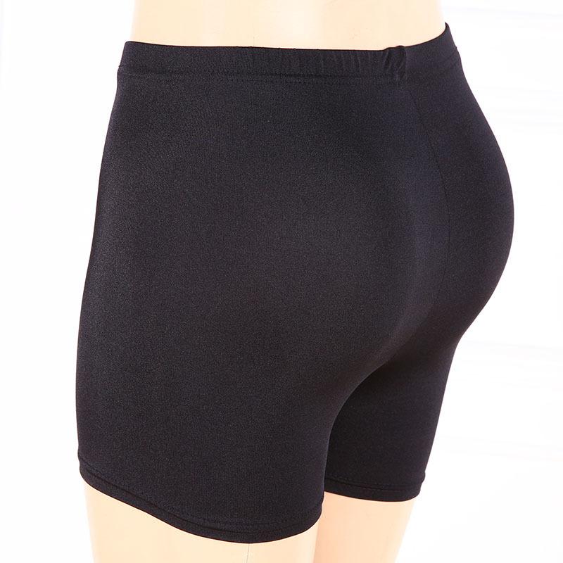 [해외]숙녀 플러스 XL 짧은 여자 블랙 화이트 손질 반바지 여름 맞는 activewear 카프리 슬림 바닥/lady plus size XL short women black white shine shorts summer fitted activewear capris sl
