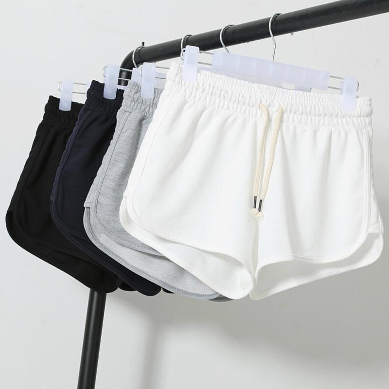 [해외]2016 여름 스트리트 패션 반바지 여성 탄성 허리 짧은 바지 여성 느슨한 솔리드 부드러운 면화 캐주얼 짧은 Femme/2016 Summer Street Fashion Shorts Women Elastic Waist Short Pants Women Loose S
