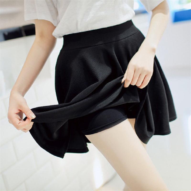 [해외]2015 년 여름 여성 새로운 안감 안티 비어 프리드 스커트 높은 허리 캐주얼 솔리드 반바지 스커트 A718/2015 Summer Women New Lined Anti Emptied Pleated Skirts High Waist Casual Solid Short