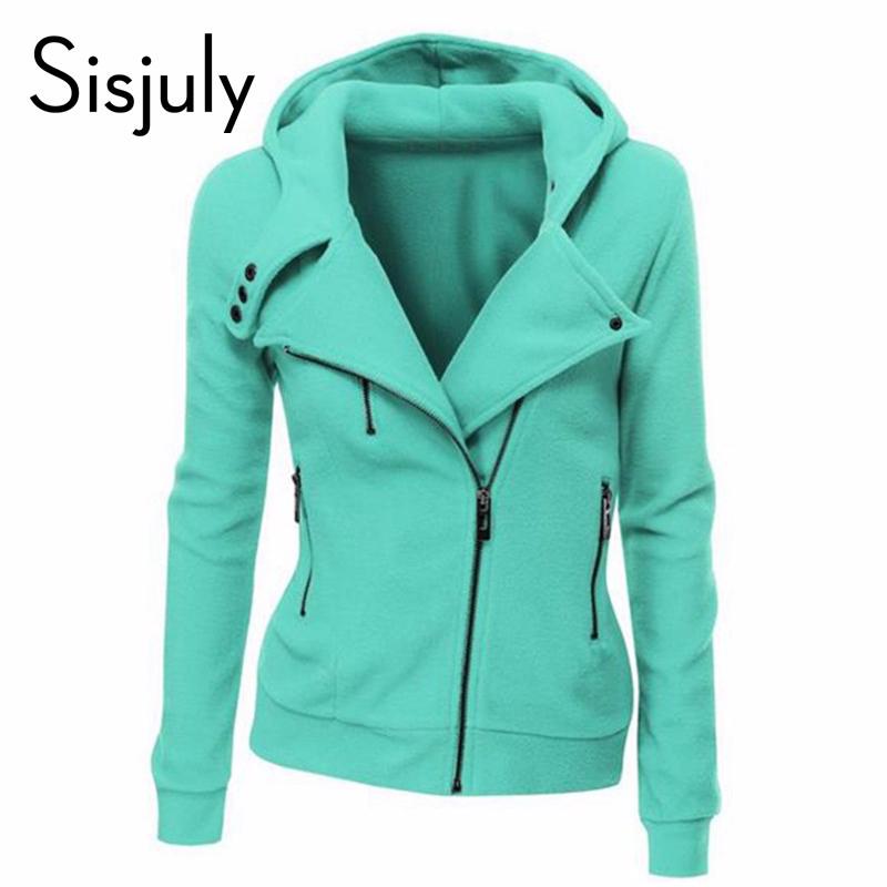 [해외]여성 Sisjuly 그린 자켓 긴팔 패션 봄 후드 가을 지퍼 코트 여성/Sisjuly green jacket long sleeve fashion spring hoodies autumn zipper coats women