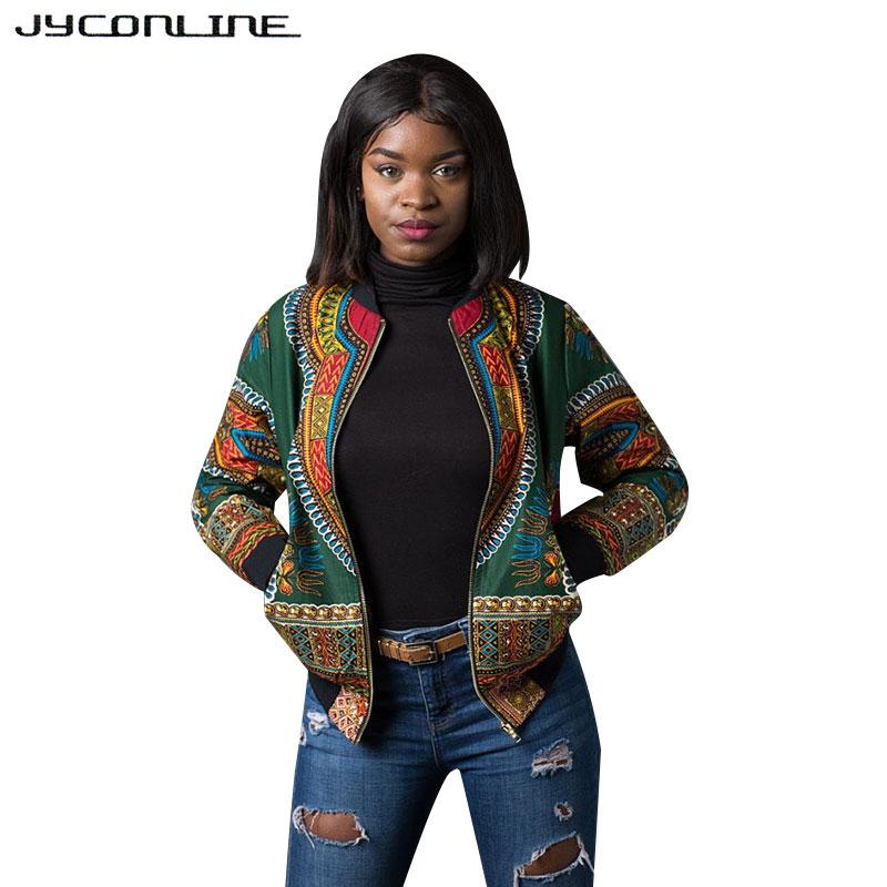 [해외]JYConline 아프리카 인쇄 폭탄 재킷 코트 여성 Dashiki 재킷 여성 가을 ??Outwear 빈티지 긴 Retail 코트 여성 의류/JYConline African Print Bomber Jacket Coats Women Dashiki Jacket Fe