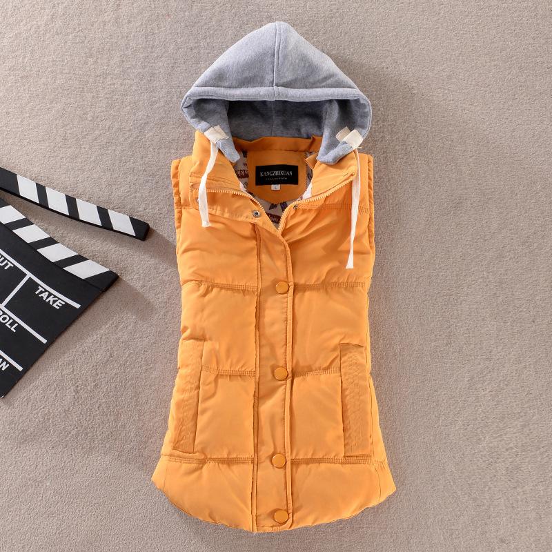 [해외]플러스 사이즈 8 색 패션 가을 겨울 코트 여성 여성 Gilet C..