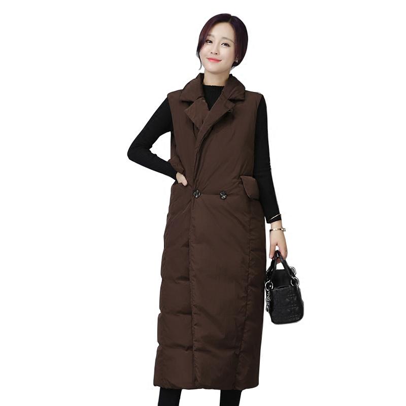 [해외]가을 자켓 & 겉옷 다운 코튼 자켓 겨울 여성 조끼 두꺼운 브레스트 양모 코트 민Retail 롱 코트 여성/Autumn Jacket&Outerwear Down Cotton jacket Winter Women Vest Thickening Double