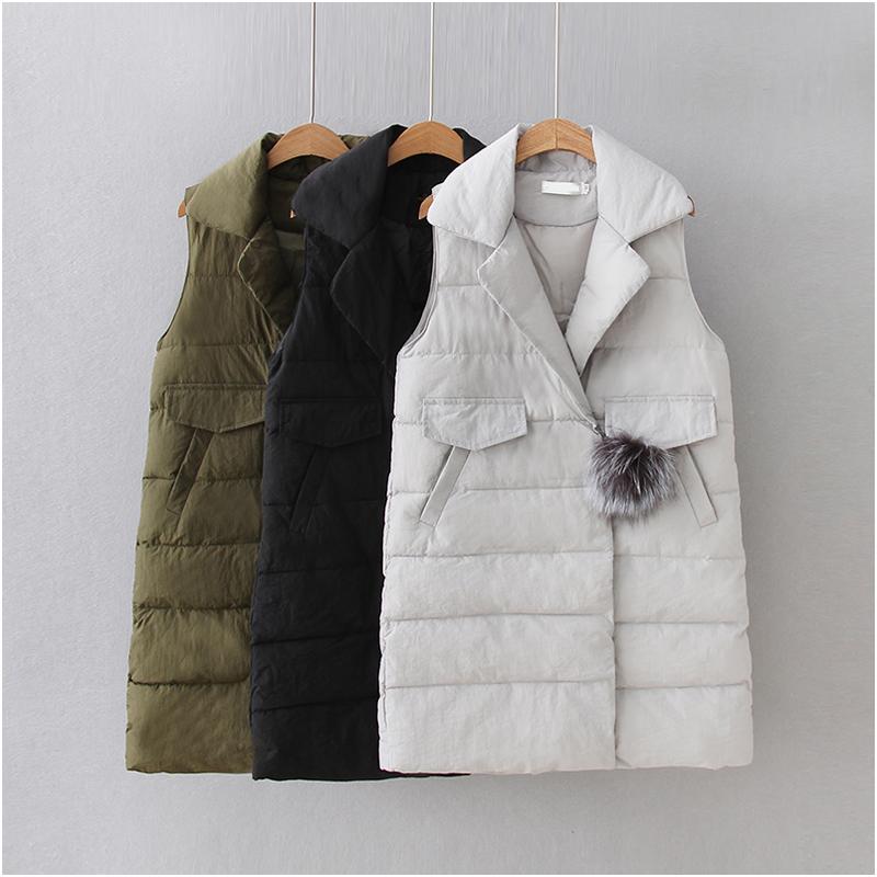 [해외]NYMPH 가을 겨울 여성 코튼 조끼 따뜻한 코트 군 녹색 검은 색 조끼 디자이너 민Retail 캐주얼 여성 자 켓/NYMPH Autumn Winter Women Cotton Vest Warm Down Coat Army green Black Gray Vests