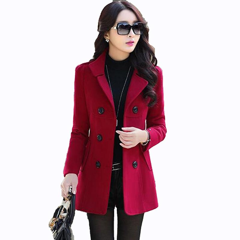 [해외]2017 가을 겨울 새로운 패션 여성 양모 코트 더블 브레스트 코트 우아한 bodycon 고치 양모 긴 코트 솔리드 컬러상의 LU304/2017 Autumn Winter new fashion women wool coat double breasted coat el