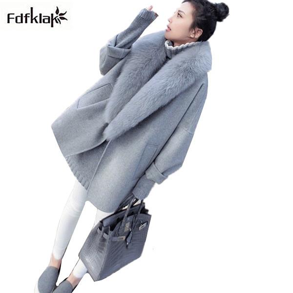 [해외]패션 코트 2017 여성 겨울 코트 긴 여자 & 겨울 자 켓 느슨한 브랜드 캐시미어 울 코트 manteau femme XXL/Fashion coats 2017 women winter coat long women&s winter jacket loose br