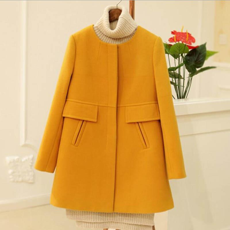 [해외]2016 가을 겨울 양모 코트 한국 패션 캐주얼 새 여성 외투 4XL 따뜻한 카사코 슬림 여성 양모 재킷 플러스 크기, lb2547/2016 autumn winter wool coat Korea fashion casual new women overcoat 4XL