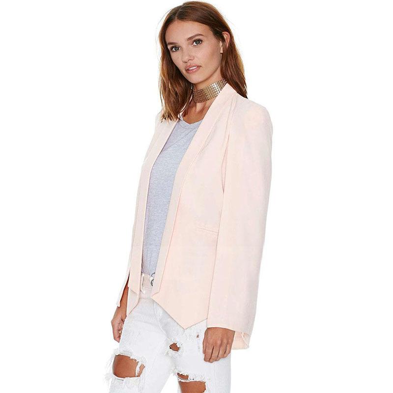 [해외]새로운 여성 및의 가을 옷 깃 분할 긴 Retail 재킷 케이프 오??피스 정장 코트 주머니/New Women&s Autumn Lapel Split Long Sleeve Pockets Blazer Cape Office Suit Coats