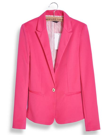 [해외]패션 자 켓 블레 이저 여성 정장 Foldable 긴 Retail 옷 깃 코트 LinedStriped 단일 단추 보 그 블 레이 저 스 자 켓 MZ1309/Fashion Jacket Blazer Women Suit Foldable Long Sleeves Lape