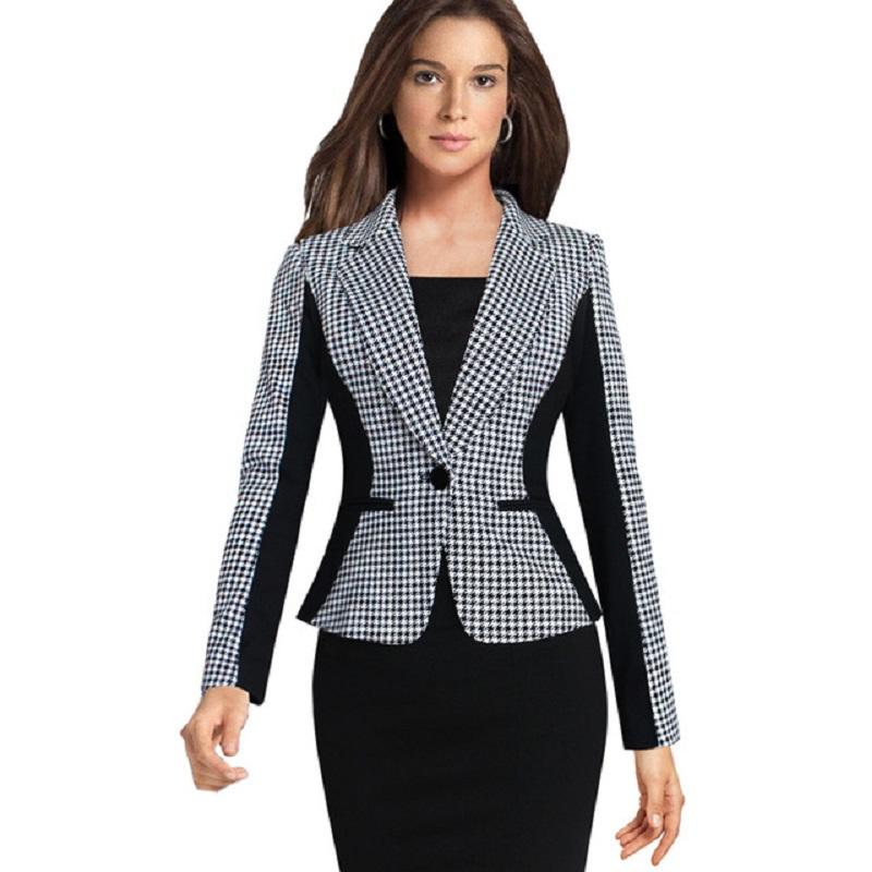 [해외]?2017 슬림 office work blazer feminino 숙녀 자켓 블레이저 여성 Suit 정장 싱글 버튼 Vogue Blazers Jackets 비즈니스/ 2017 slim office work blazer feminino Ladies Jacket B