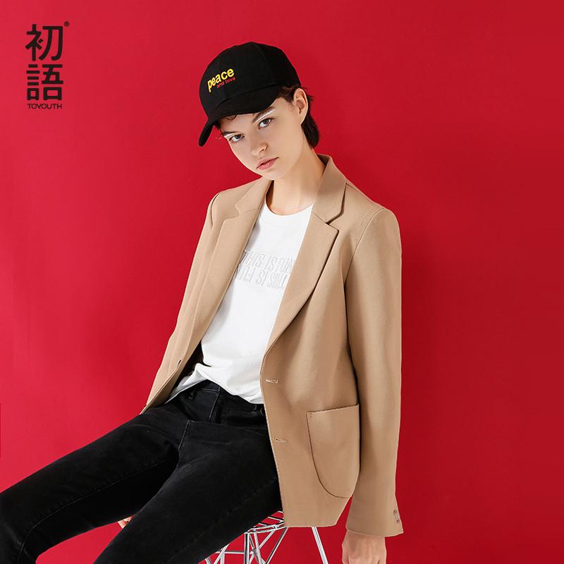 [해외]Toyouth Blazer 2017 겨울 여성 패션 단색 단일 - 브레스트 올 스타일 슬림 블레이저 여성/Toyouth Blazer 2017 Winter Women Fashion Solid Color Single-Breasted Ol Style Slim Blaz