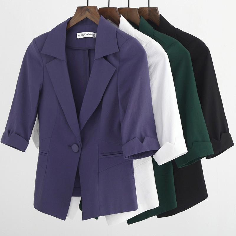 [해외]여자 재킷과 재킷 플러스 크기 3Xl 4Xl 우아한 여성 얇은 여름 정장 숙녀 캐주얼 블레이 저 슬림 피트 맞춤 착용 Ma084/Women Blazers And Jackets Plus Size 3Xl 4Xl Elegant Female Thin Summer Sui