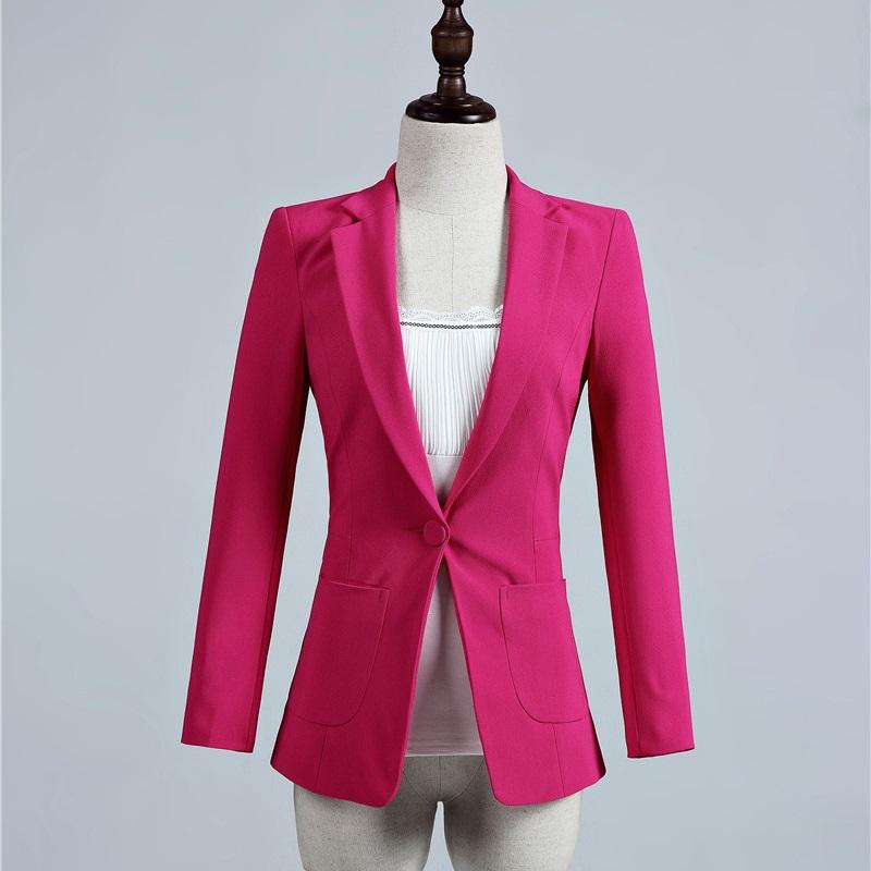 [해외]봄 가을 공식 숙녀 우아한 장미 블레이저 여성 Outerwear Jackets Slim Office Uniform Designs 여성 블레이져 OL 스타일 탑스/Spring Fall Formal Ladies Elegant Rose Blazer Women Oute