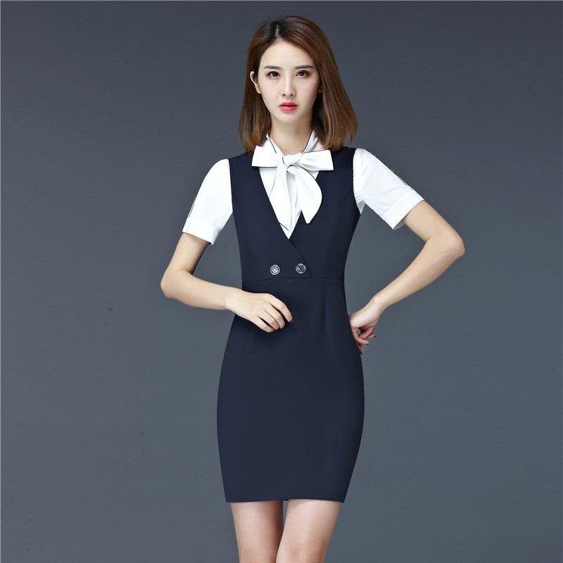 [해외]새로운 패션 공식 OL 스타일 전문 비즈니스 여성 의류 착용 옷 SuitsDress 및 블라우스 숙녀 사무실 블레 이저 의상 세트/New Fashion Formal OL Styles Professional Business Women Work Wear SuitsD