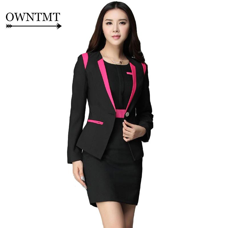 [해외]복장 여성 2017 여성 비즈니스 정장 공식적인 사무실 복장 여성 슬림 맞는 우아한 사무실 제복 4XL 플러스/Dress Suit Women 2017 New Arrival Women Business Suits Formal Office Suits Work Fema