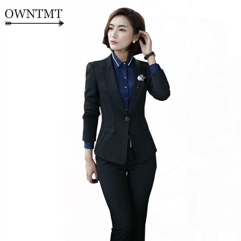 [해외]여성 복장 정장 2017 패션 비즈니스 V - 목 정장 정식 Office Suits Work 여성 슬림 피트 우아한 Office Uniform 플러스 사이즈/Women Dress Suit 2017 Fashion Business V-neck Dress Formal