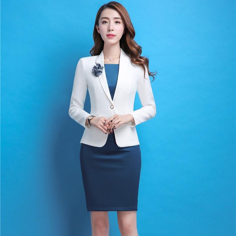 [해외]공식적인 전문 비즈니스 워크웨어 블레 이저 정장 재킷 코트 및 복장 슬림 패션 여성 사무복 유니폼 플러스 사이즈/Formal Professional Business Work Wear Blazers SuitsJackets Coat And Dress Slim Fas