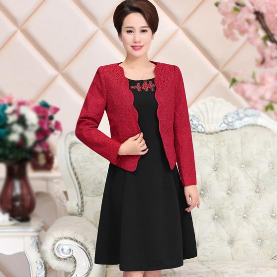 [해외]2017 새로운 여성 패션 엄마 가을 겨울 결혼식 중년 여성 의류 플러스 크기 슬림 작업/2017  New  Women Fashion  Mom Autumn Winter  Wedding  Mid Aged Women Clothing Plus Size Slim Wor