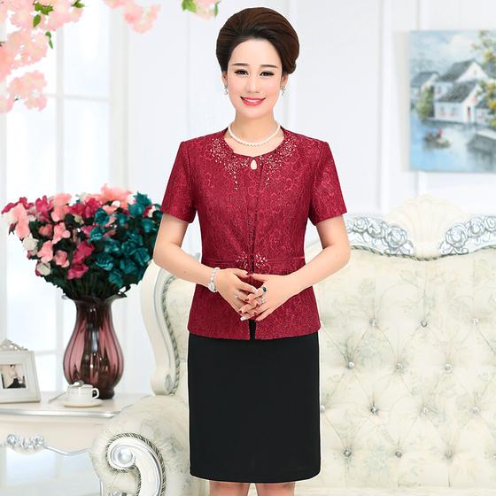 [해외]?2017 새로운 가을 겨울 여성 정장 엄마 웨딩 드레스 중년 여성 의류 플러스 크기/ 2017  New Autumn Winter Women Suit  Mom Wedding Dress  Mid Aged Women Clothing Plus Size