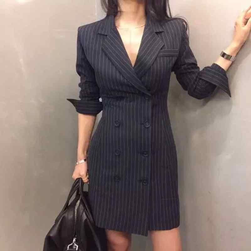 [해외]2018 새로운 패션 여성 격자 무늬 파티 드레스 우아한 복장 긴 Retail 작업 드레스 숙 녀 드레스 정장 슬림 맞는 여성 플러스 크기/2018 New Fashion Women Plaid Party Dress Elegant Dress Suit Long Sle