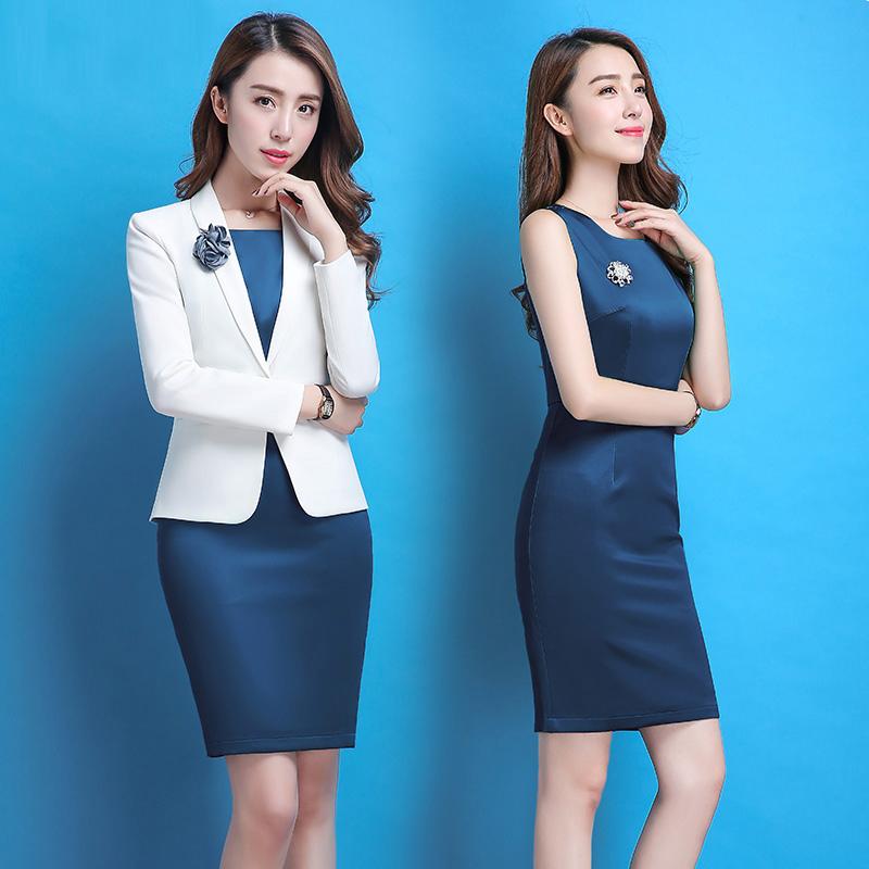 [해외]새로운 여성 & 드레스 정장 봄 2018 패션 우아한 사무실 숙녀 & 블레 이저 세트 슬림 탱크 복장 공식 Workwear 정장 여성/New Women&s Dress Suits Spring 2018 Fashion Elegant Office Ladi