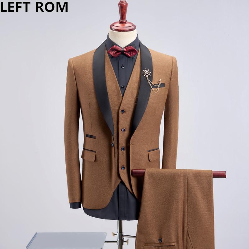 [해외]LEFT ROM 남자 새 봄 긴 Retail 블루 패치 워크 슬림 남자 신랑 웨딩 드레스 고품질 한국어 수석 남자 정장 S-4XL/LEFT ROM Male New spring Long sleeve Blue Patchwork Slim men Groom weddin