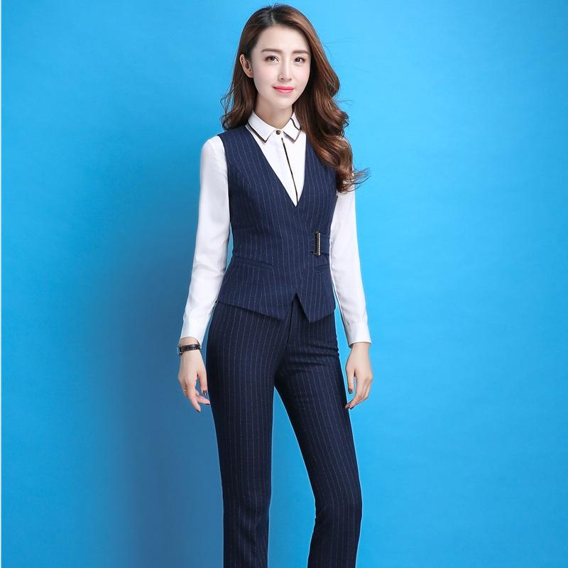 [해외]공식 유니폼 디자인 Pantsuits 블레 이저 정장 3 조각 조끼 코트와 바지와 사무실 여성용 블라우스 여성 바지 정장/Formal Uniform Design Pantsuits Blazers Suits3 Piece Vest Coat And Pants And B