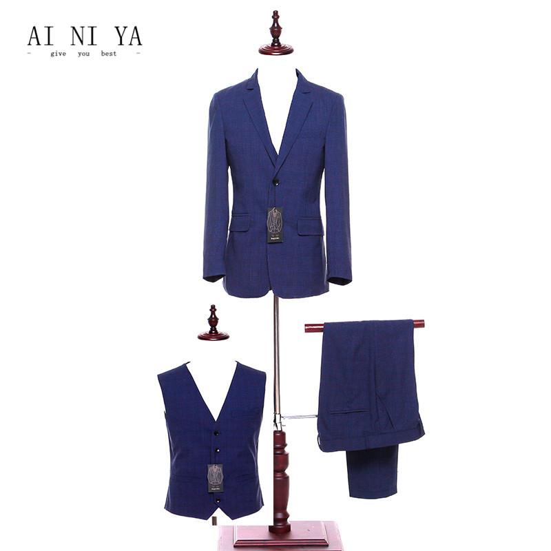 [해외]재킷 + 바지 + 조끼 바지 정장 여성 비즈니스 정장 사무실 공식적인 작업 3 조각 세트 로얄 블루 스트 라이프 숙녀 우아한 바지 정장/Jacket+Pants+Vest Pant Suits Women Business Suits Office Formal Work 3