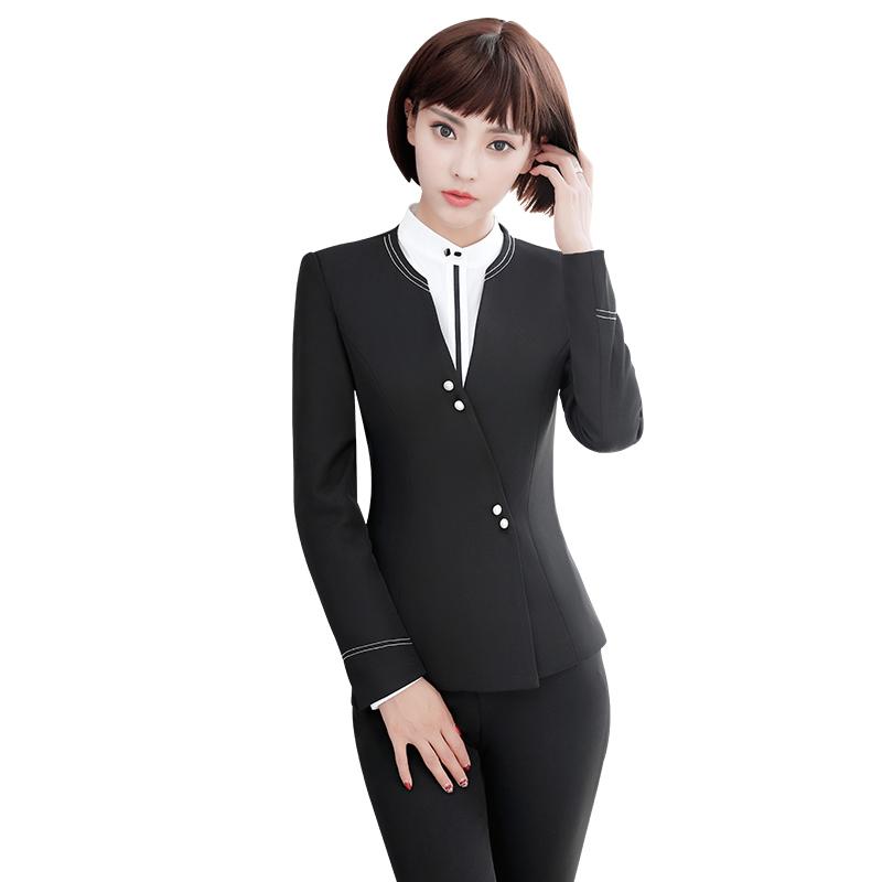 [해외]패션 여성 & 비즈니스 정장 OL 슬림 워크 마모 사무실 숙녀 긴 Retail 블레이저 바지 정장 womena 바지를의류/Fashion women&s Business suits OL slim work wear office ladies long sleeve