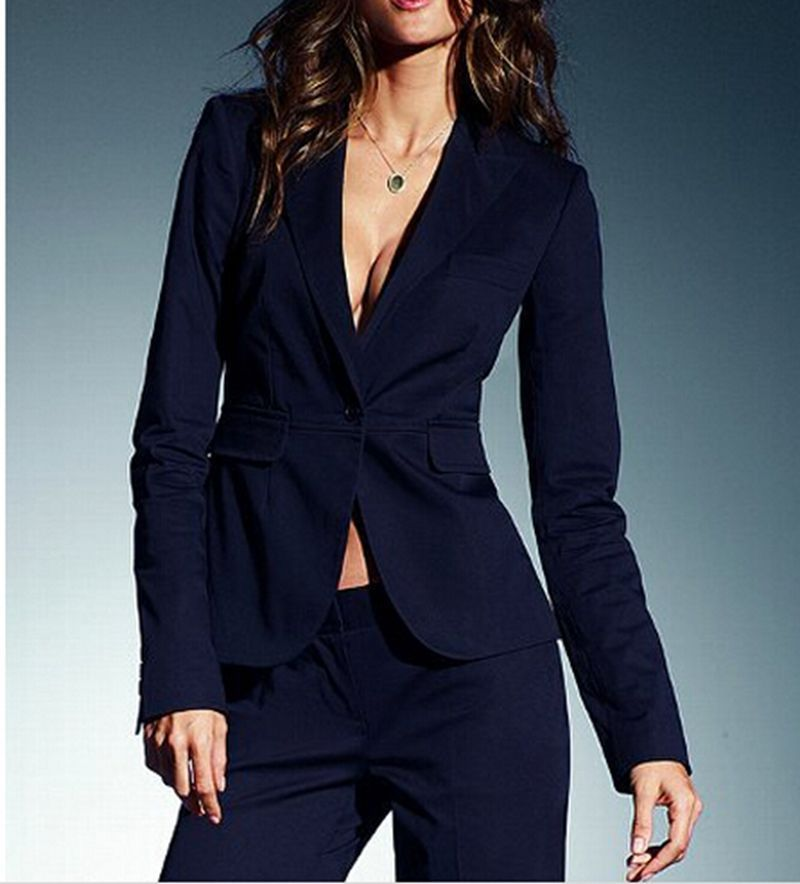 [해외]다크 해군 여성 숙녀 사용자 정의 오피스 비즈니스 정장 작업 착용 새로운 턱시도 자켓 바지/Dark Navy Women Ladies Custom Made Office Business Suits Work Wear New Tuxedos Jacket+Pants