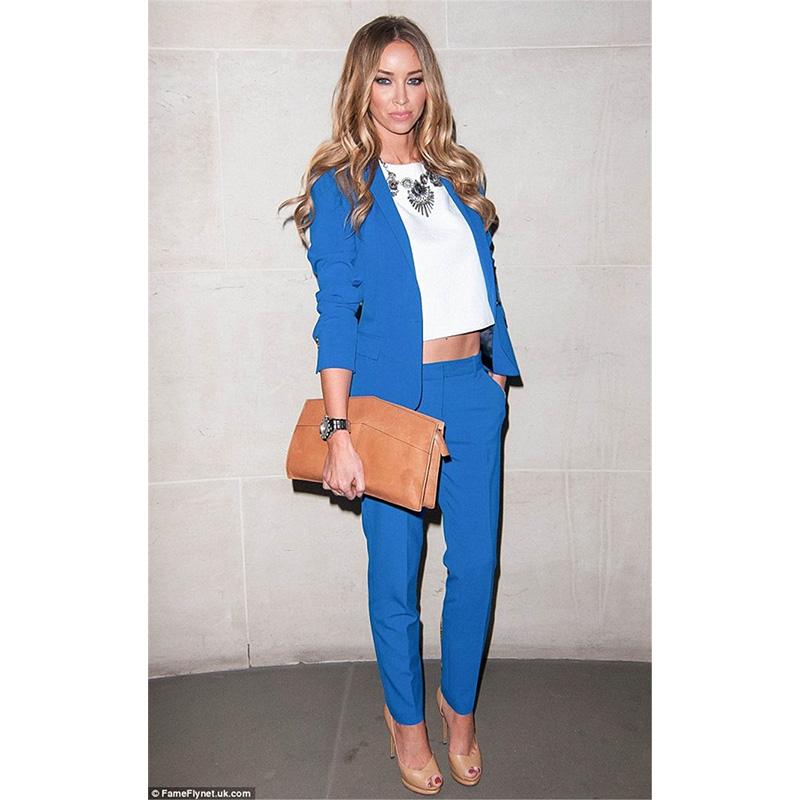 [해외]새 호수 블루 여성 비즈니스 정장 슬림 피트 여성 사무실 제복 신사 숙 녀 바지 정장 정장 저녁 턱시도 2 조각 블레 이저/New Lake Blue Womens Business Suits Slim Fit Female Office Uniform Ladies Tro