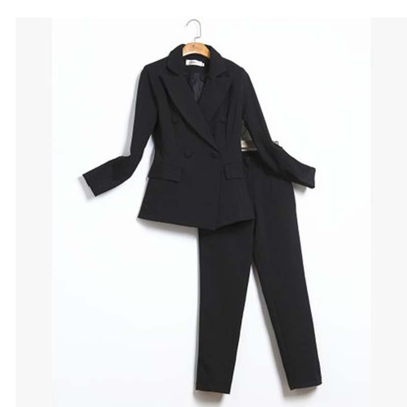 [해외]2018 봄과 가을의 신작 슬림 한 양모 정장 여성 기질 정장 재킷은 얇은 조각 OL 사업이었다/2018 Spring and Autumn new fashion Slim double-breasted suit suit female temperament suit ja