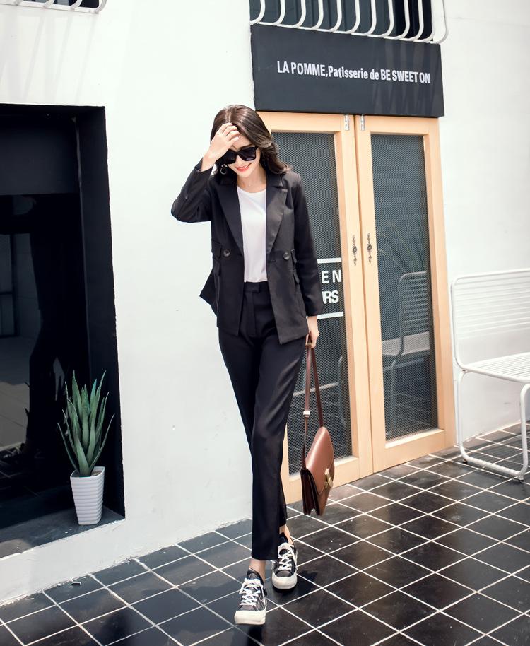 [해외]새로운 패션 여성 & 캐주얼 정장 여자 블랙 슈트 슬림 여자/New Fashion Women&s Casual Suit  Woman Black Suit Slim Female