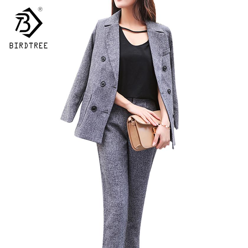[해외]두 조각 세트 여자 의상 여성 블라우스 정장 여자 비즈니스 정장 여자 정장 의류 세트 긴 바지 Tracksuit OL C81123L/Two Piece Set Women Costume Female Blazer Suit Woman Business Suit Women