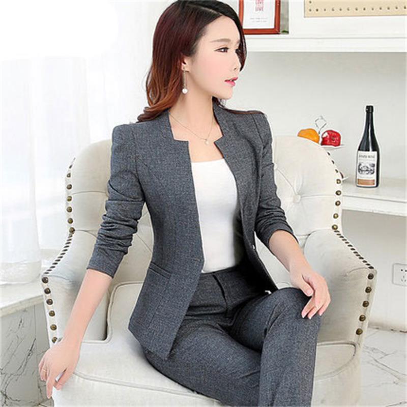 [해외]고품질의 봄 새로운 여성 & 정장 전문 복 2 벌의 정장 OL 자켓 바지 복장 여성 정장/High quality spring new women&s suits suits professional wear two-piece suits OL jacket over