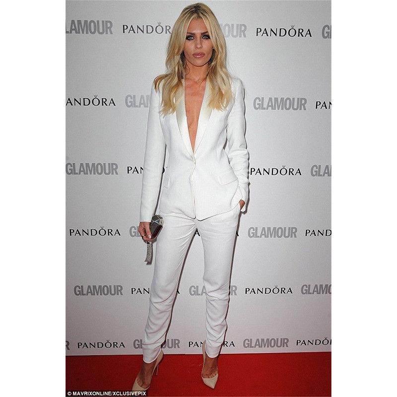 [해외]재킷 + 바지 새로운 화이트 여성 비즈니스 정장 여성 사무실 제복/Jacket+Pants New White Womens Business Work Suits Female Office Uniform suit
