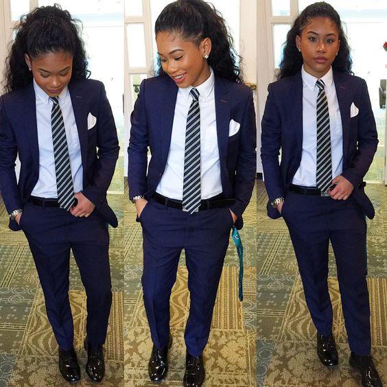 [해외]정장 사무실 유니폼 디자인 해군 파란색 여성 비즈니스 정장 슬림 여성 바지 정장 숙녀 우아한 바지 정장 2 조각 세트 W155/Formal Office Uniform Designs Navy Blue Women Business Suits Slim Female Tr