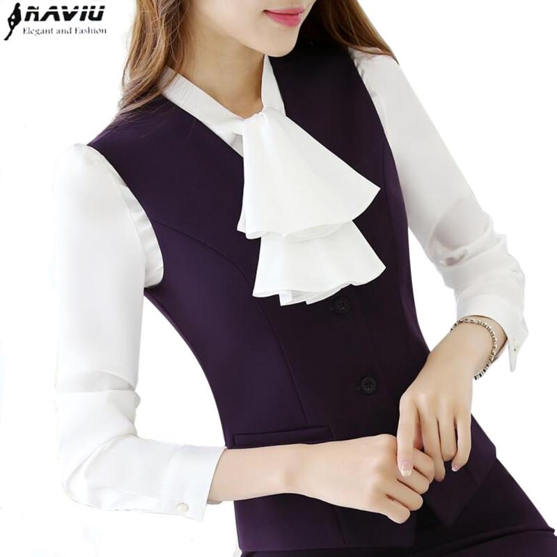 [해외]가을 OL 패션 여성 & 작업복 조끼 스커트 정장 공식 경력 숙녀 사무실 조끼 정장 플러스 사이즈 사업 유니폼/Autumn OL fashion women&s work wear vest skirt suit formal career ladies office