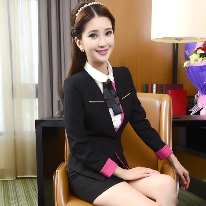 [해외]2016 년 신착 품 가을 겨울 워크웨어 전문 세트 프론트 데스크 워크웨어 여성 여성 의류 워크웨어 정장/2016 New Arrival Autumn and winter work wear professional set front desk work wear fema