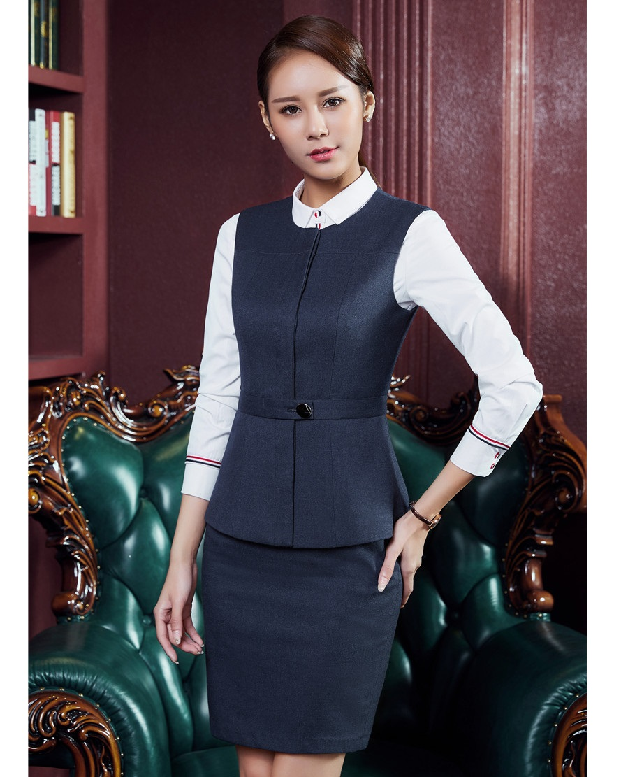 [해외]정장 여자 비즈니스 정장 스커트와 조끼 조끼 세트 숙녀 작업복 사무복 통일 스타일/Formal Women Business SuitsSkirt and Vest Waistcoat Sets Ladies Work Wear Clothes Office Uniform Sty