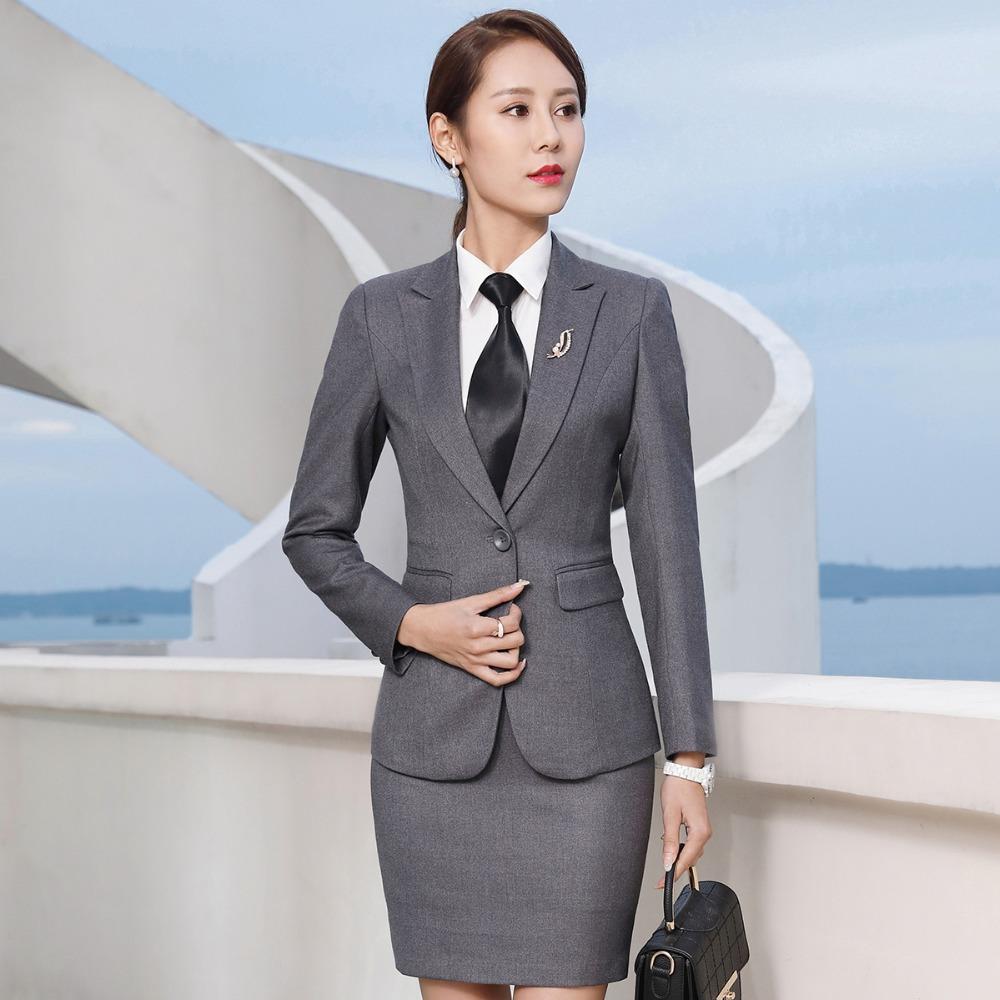[해외]사무실 복장에 맞는 여성 비즈니스 정장 사무실 우아한 여성 레이디 스커트 2 점 세트 미니 스커트 블레이저/Womens business suits office uniform designs female elegant office lady skirt suits tw