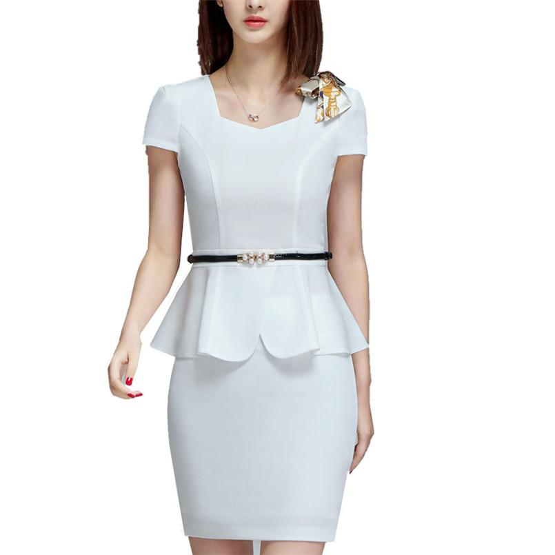 [해외]여성 & 우아한 스커트 정장 세트 작업 사무복 비즈니스 짧은 Retail 프릴 디자인 블레이저 스커트/Women&s Elegant Skirt Suit Set Work Office Business Wear Summer Short Sleeve Ruffle D